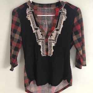 THML plaid blouse from Nordstorm